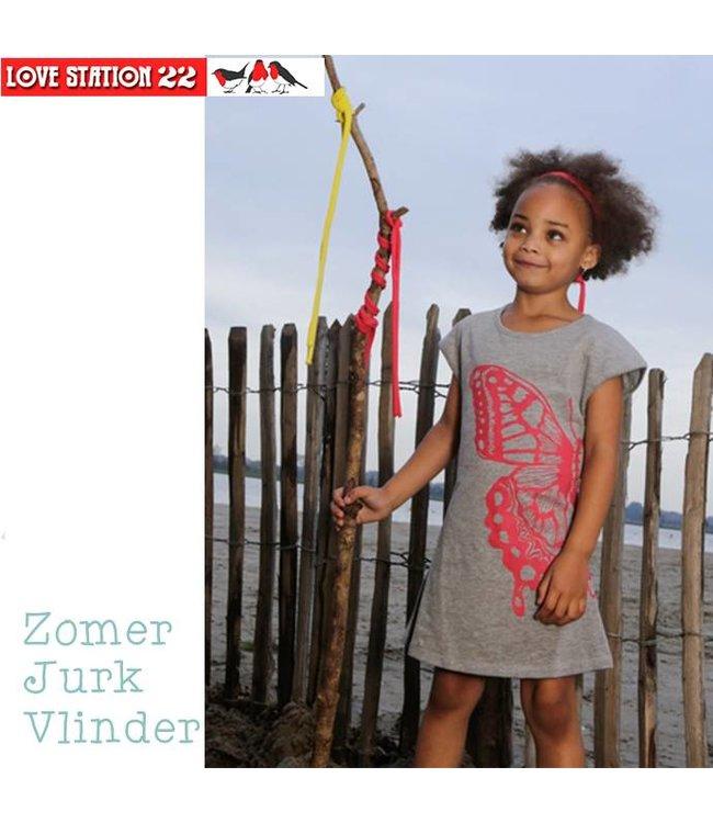 LoveStation22 Zomerjurkje vlinder, zomercollectie 2016