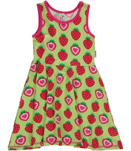 Maxomorra Aardbeien jurkje mouwloos
