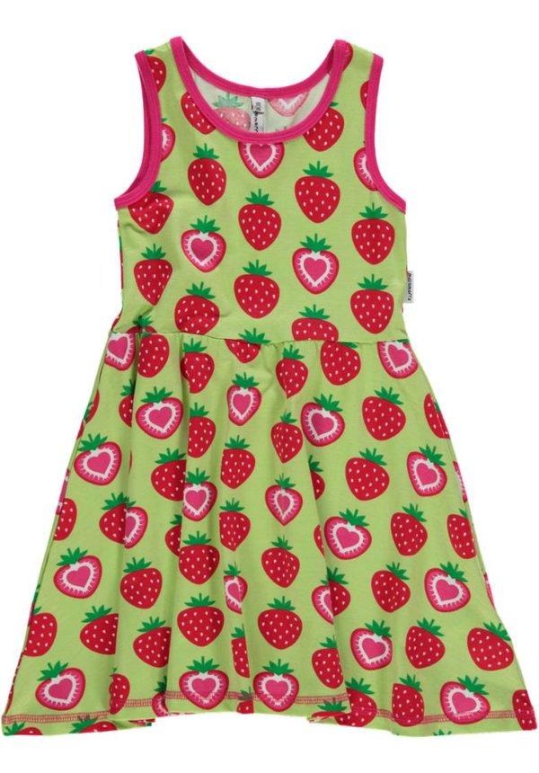 Mouwloos jurkje met aardbeien van Maxomorra