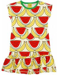 50% korting: Meloen en bananenjurkje met korte mouw