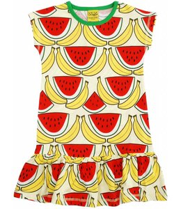 DUNS Sweden 50% korting: Meloen en bananenjurkje met korte mouw