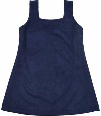 Soekartien Blauw suede jurkje