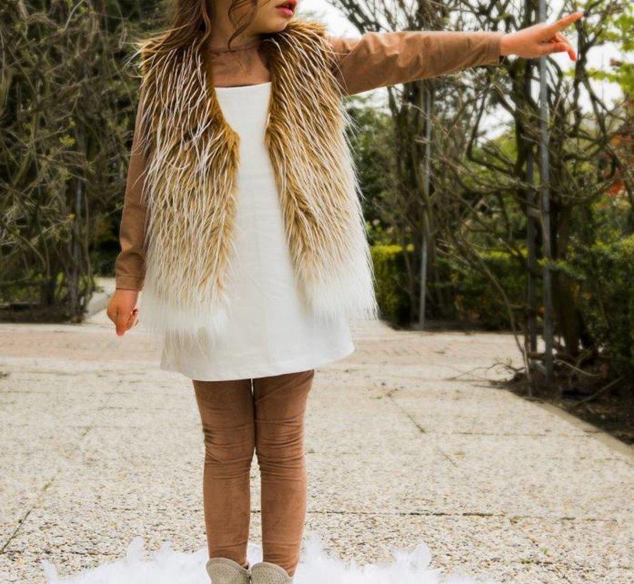 Nepbont vestje uit de wintercollectie van Soekartien 2016/2017