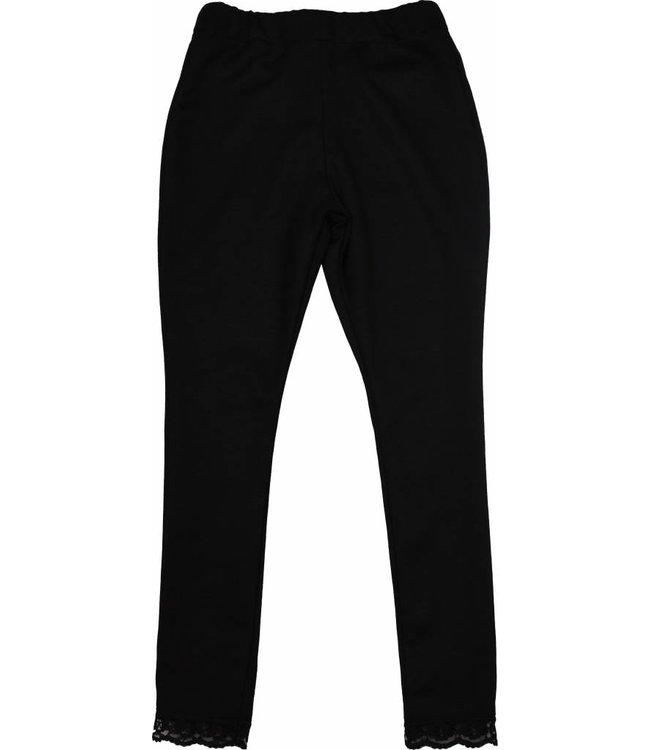Soekartien Zwarte legging met kantrandje