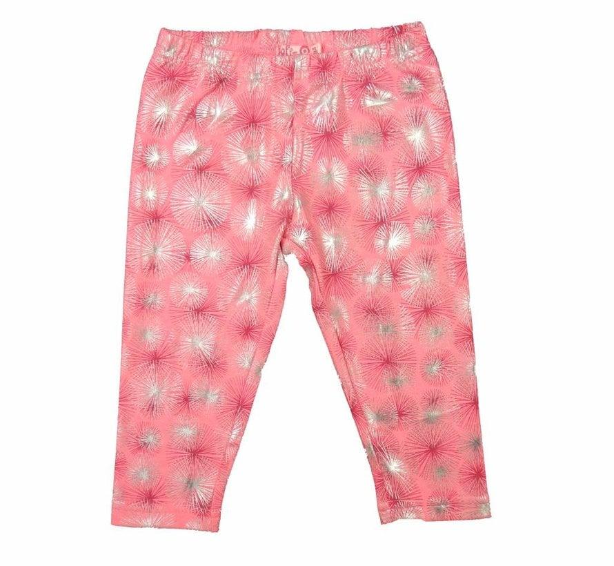 Legging driekwart in pink zilver van LoFff