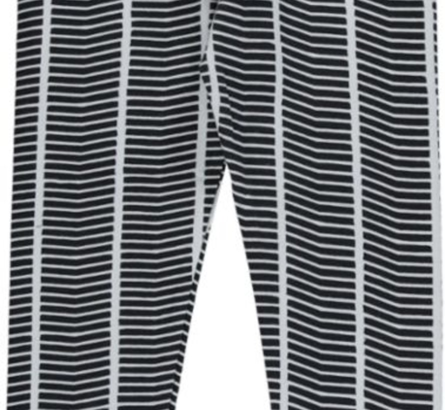 Legging in zwart wit van Birds by D-rak