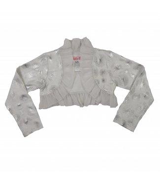LoFff Feestbolero wit met zilver