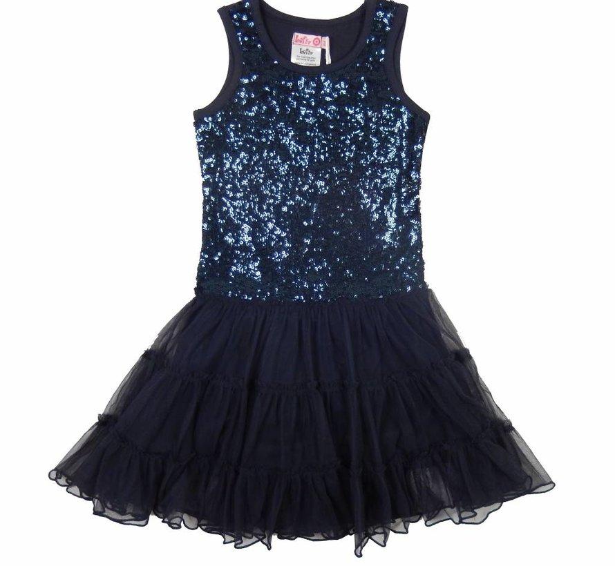 Blauwe glitterjurk van LoFff