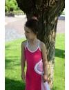 Maxi jurk fuchsia van LoFff zomer 2017