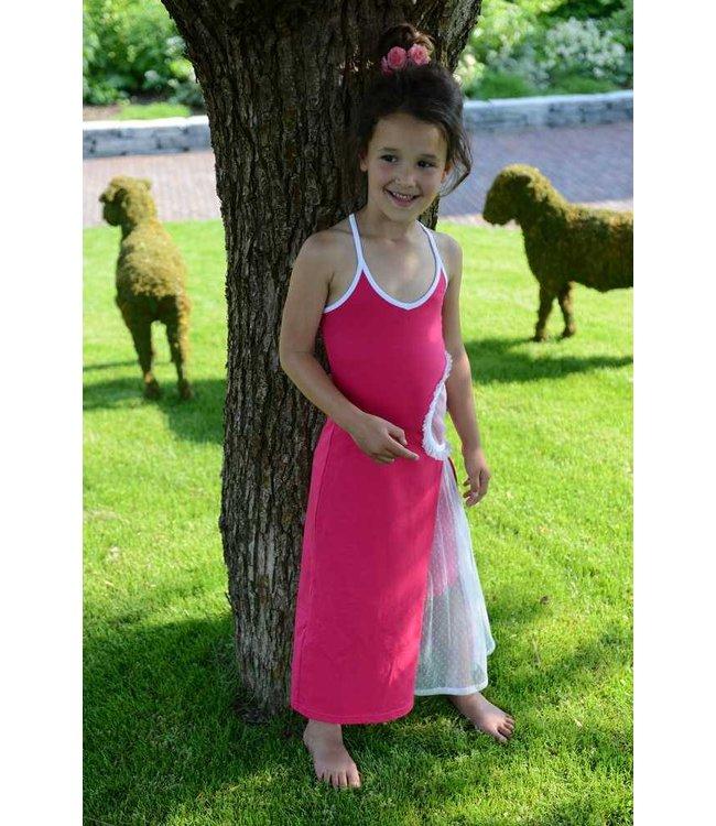LoFff Maxi jurk fuchsia van LoFff zomer 2017