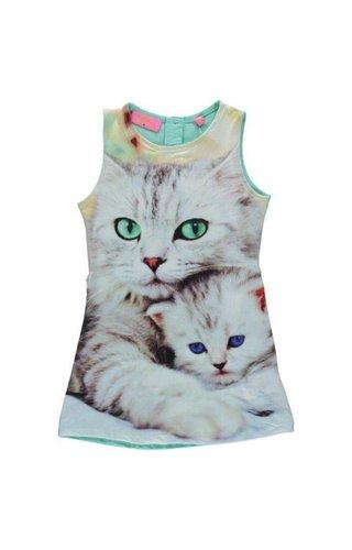 Very Lovely Girls - VLG Mouwloos jurkje met kat en kitten