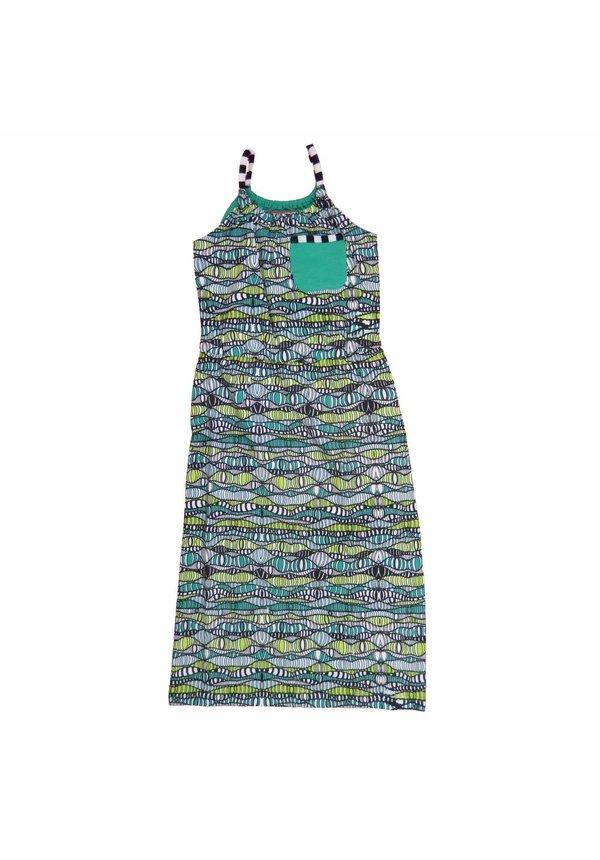 Maxi jurk Jasmijn in groen, zomercollectie 2017
