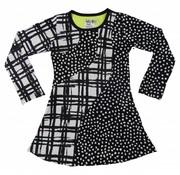 LoFff Zwart-witte grafische print jurk
