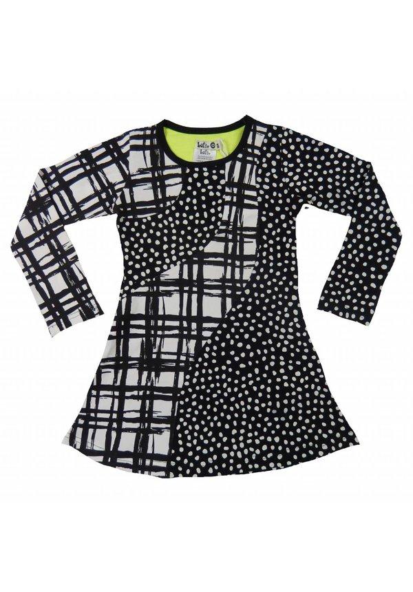 Zwart-wit jurkje van LoFff winter 2017