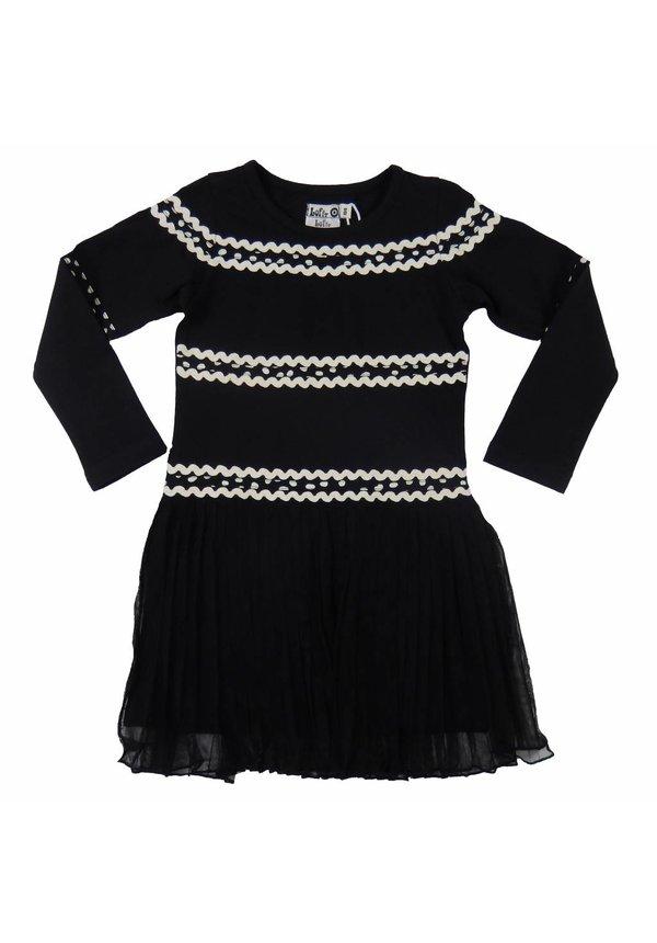 Zwart winter jurkje van LoFff winter 2017