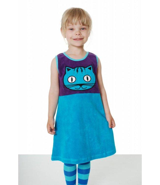 DUNS Sweden Overgooier badstof Kat, paars - blauw