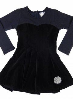 LoFff Feestjurk blauw zwart fluweel