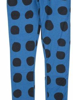 Birds by D-rak Legging blauw met donkerblauwe stippen