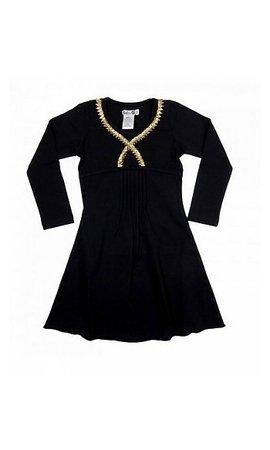 LoFff SPECIAL PRICE: Zwart met goud feestjurkje