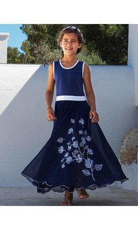 LoFff Maxi jurk  blauw