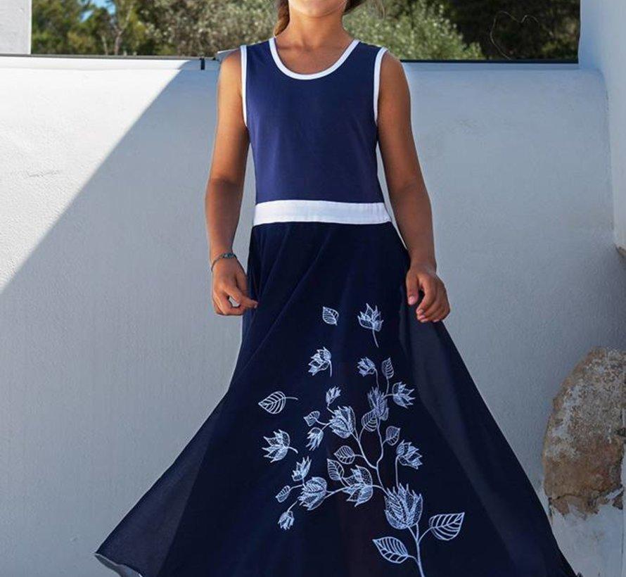 Maxi jurk blauw van  LoFff zomer 2018