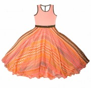 LoFff Maxi jurk  coral
