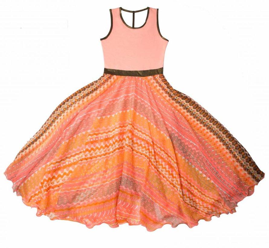 Maxi jurk coral van  LoFff zomer 2018