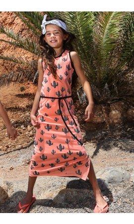 LoveStation22 Maxi jurk Linde, coral/zwartwit