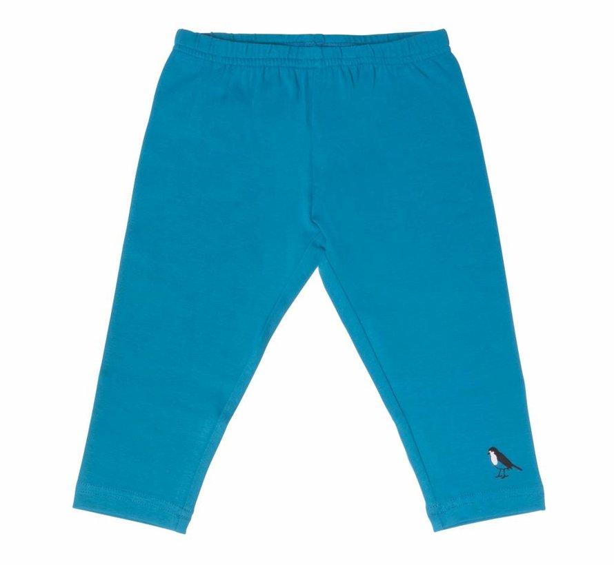 Driekwart legging, petrolblauw, Lovestation22, zomer 2018