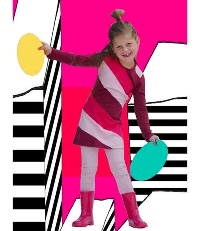 Happy nr 1  Jurkje met roze strepen