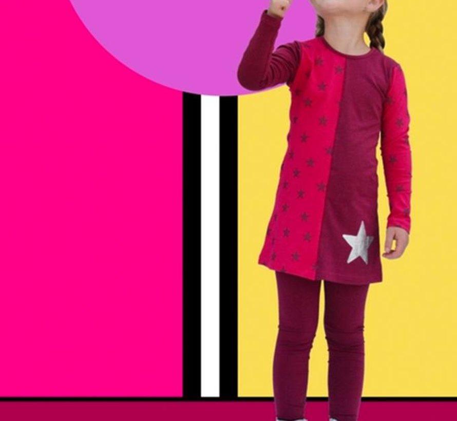 Roze jurk met zilveren ster, Happy, winter 2017-2018