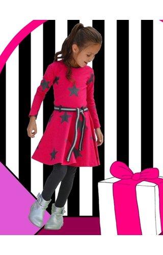 Happy nr 1  Roze sterren dansjurkje