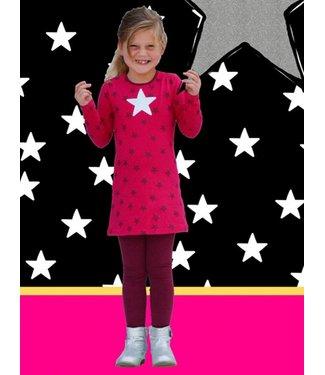 Happy nr 1  Meisjesjurk met grote zilveren ster