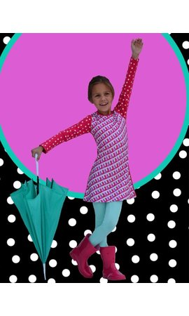 Happy nr 1  Roze grafisch jurkje