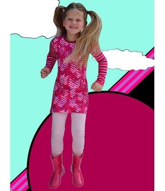 Happy nr 1  Roze pijlen jurkje