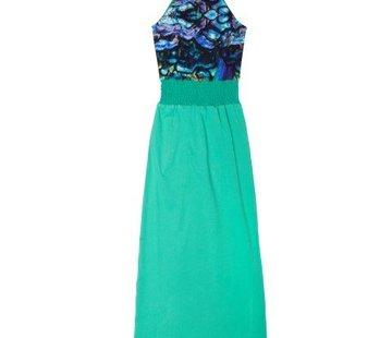 LavaLava Maxi jurk Laos Multicolour zeeblauw