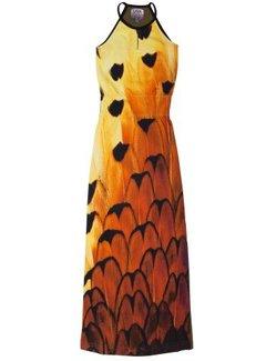 LavaLava Maxi jurk Laos verenprint