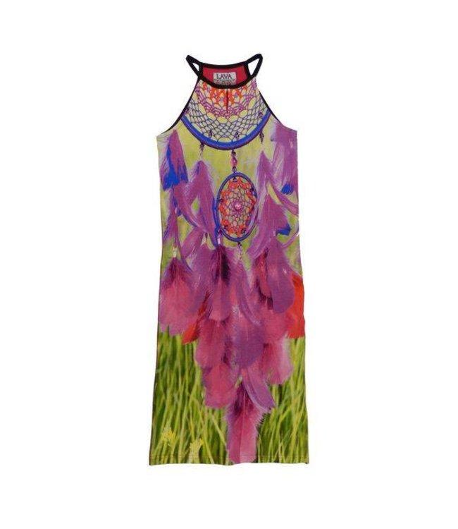 LavaLava Zomerjurk 'Laos' maxidress pinks