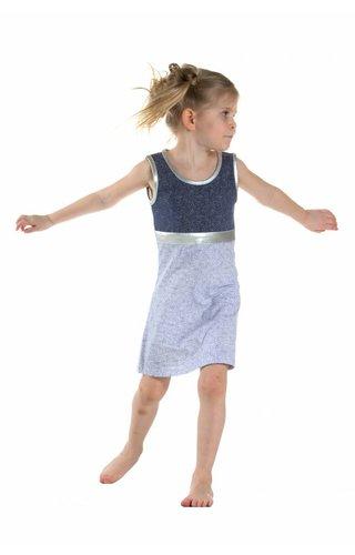 LoFff Puntjes jurkje blauw wit