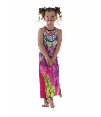 LavaLava Zomerjurk 'Laos' maxidress pinks