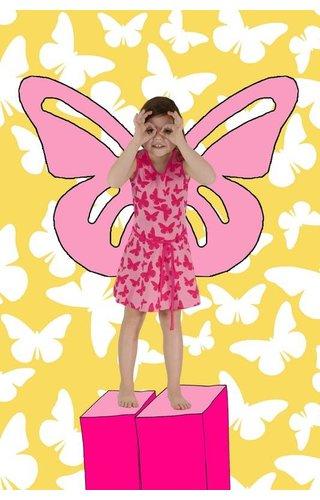 Happy nr 1  Vlinderjurkje roze, zomer 2018