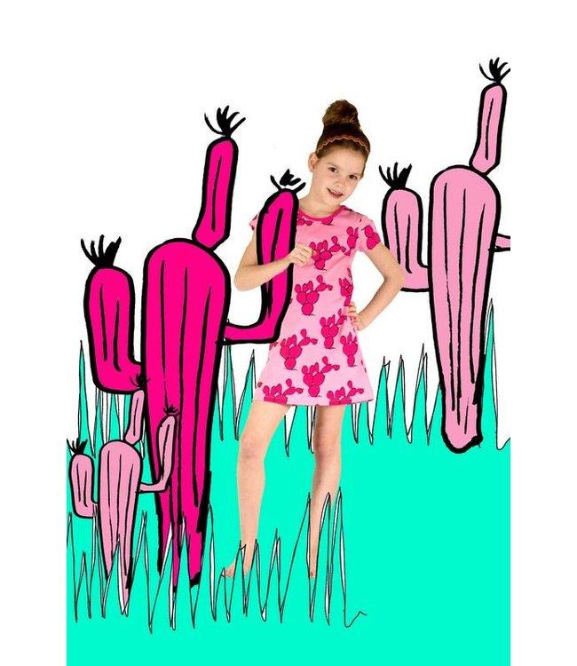Happy nr 1  Cactus jurk roze, zomer 2018