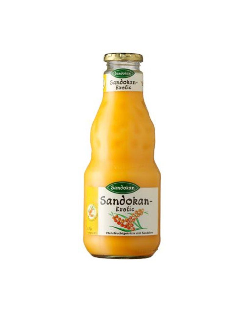 Sandokan Sanddorn-Getränk Sandokan Exotic. Mild mit Mango & Milch. 0,75L
