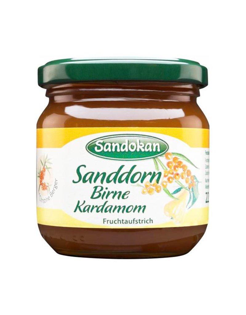 Sandokan Fruchtaufstrich Sanddorn-Birne-Kardamom 225 g