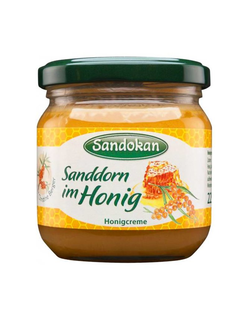 Sandokan Honigcreme Sanddorn im Honig 225 g