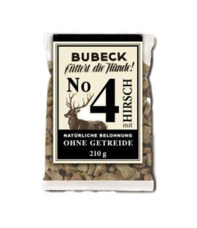 Bubeck - Nr. 4 mit Hirsch gebacken - die getreidefreie Belohnung mit dem besten vom Hirsch gebacken 210g