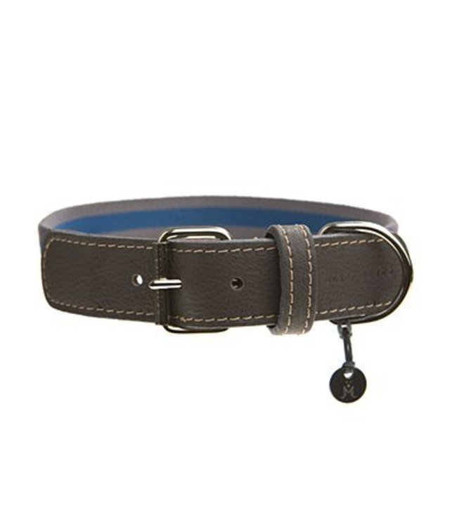 Mungo and Maud - Asymmetric Dog Collar Steel