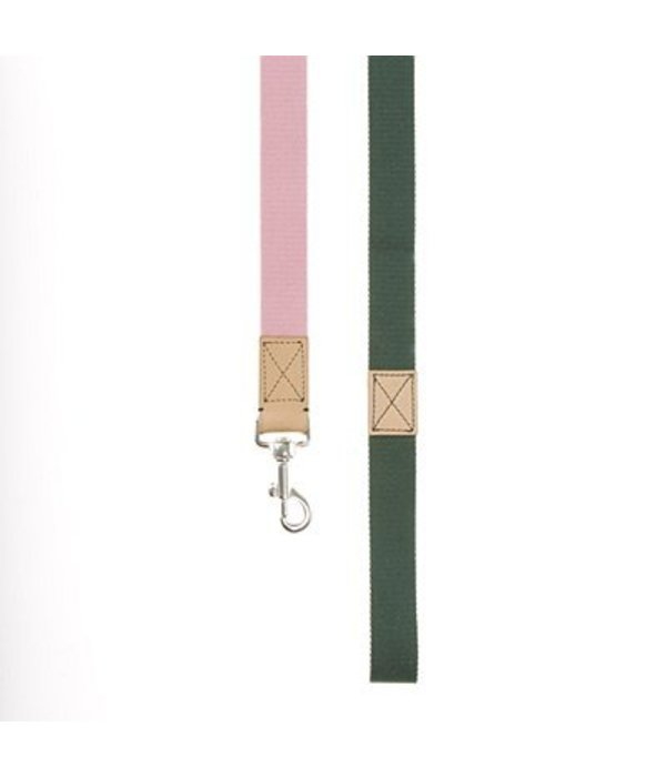 Mungo and Maud - CONVERSE DOG LEAD Rose/Forest