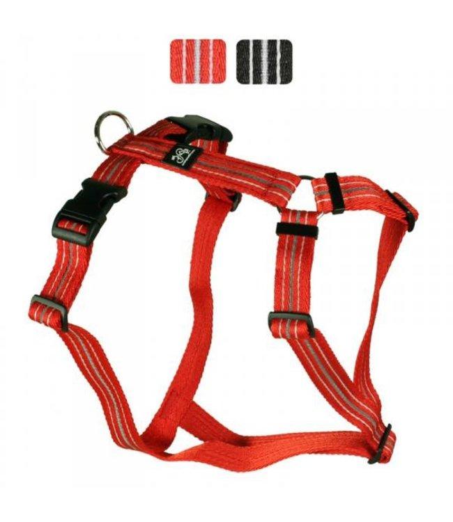 Hundegeschirr - Reflex rot