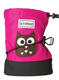 Stonz Stonz Booties Owl Fuchsia